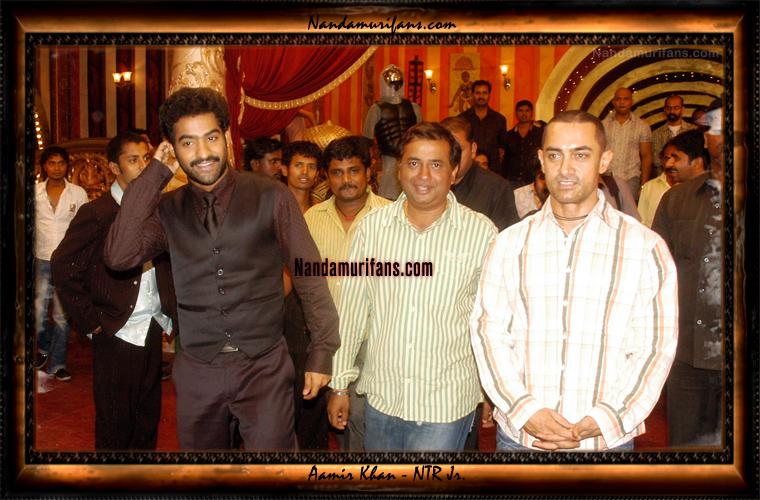 Aamir Khan meets NTR Jr. on Kantri sets - Click to enlarge