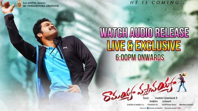 Ramayya Vastavayya Audio Launch