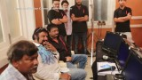 Balakrishna meets Amitabh Bachchan on Sarkar Sets