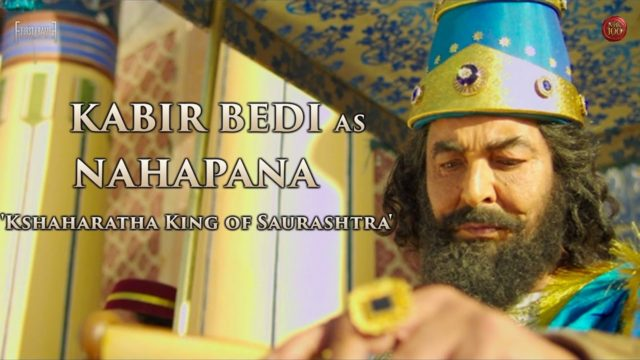 Kabir Bedi as Nahapana in Gautamiputra Satakarni